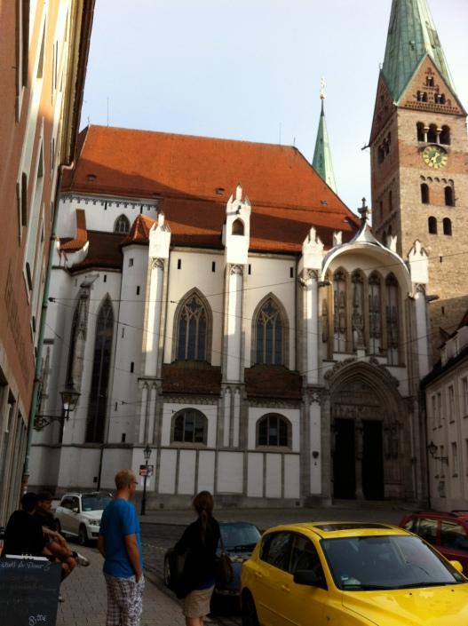 antiga e famosa catedral de Augsburg