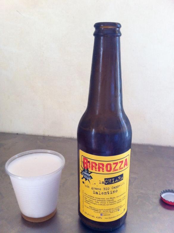 cerveja de trigo feito na região salentina - 100% organico e vegan! :-)