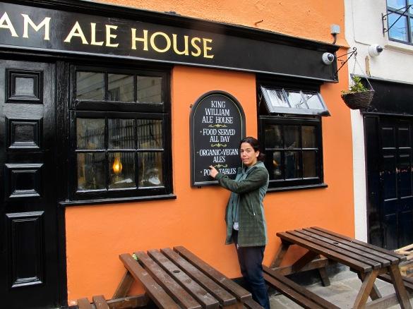 historic pub offers vegan organic ale!
