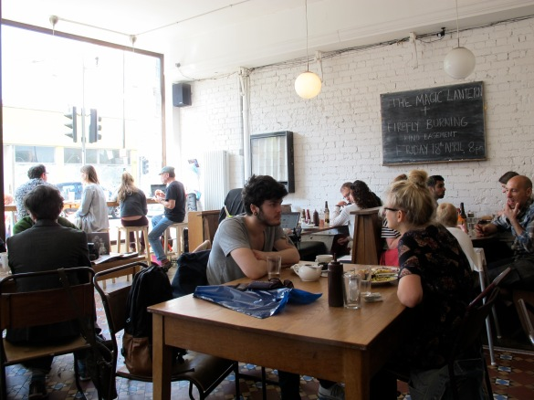 inside Cafe Kino - cosy atmosphere and alternative people