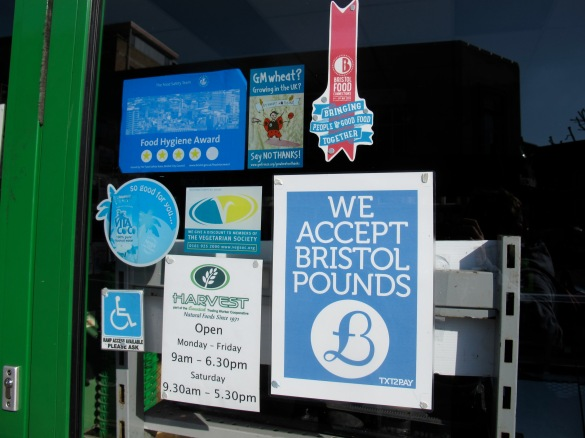 Strong commitments with sustainability. This shop accepts Bristol Pounds at gives discount for members of the vegetarian society.