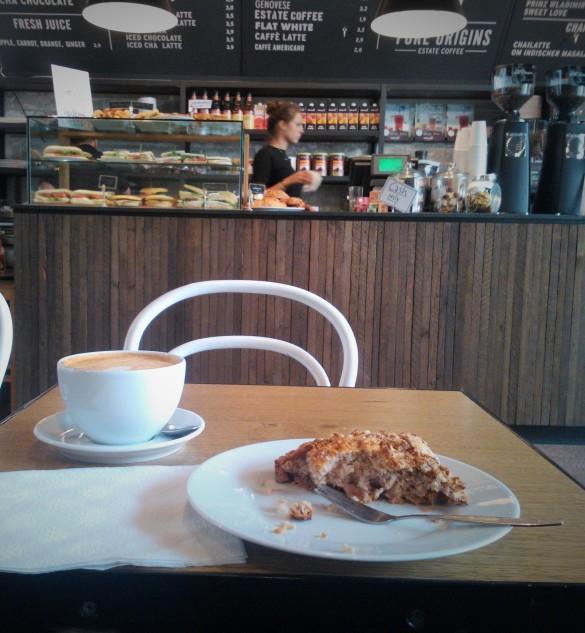 scone vegetariano pure origins cafe