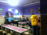 Dentro do restaurante